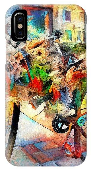 IPhone Case featuring the digital art Flower Bike by Pennie  McCracken
