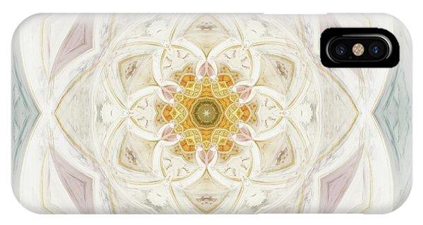 Fractal Geometry iPhone X Case - Flower Of Heaven by Raphael Terra