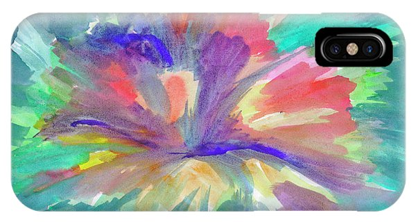 IPhone Case featuring the painting Flowering Abstract 1 by Dobrotsvet Art