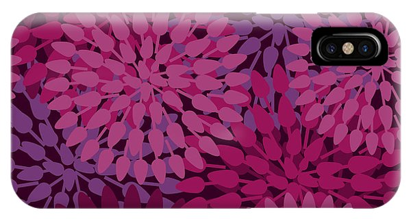 Violet iPhone Case - Flowers Abstract Seamless Vector by Lola Tsvetaeva