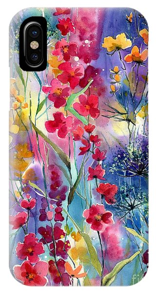 Hummingbird iPhone Case - Flowers Fairy Tale by Suzann Sines