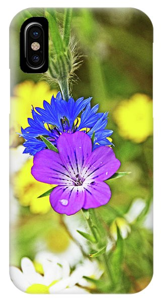 Flowers In The Meadow. IPhone Case