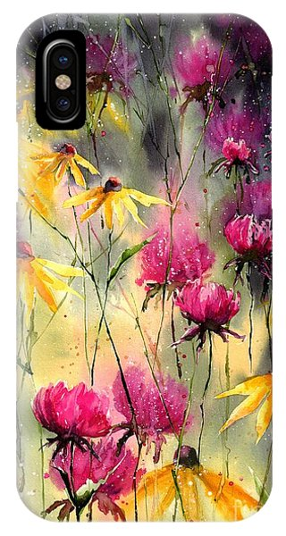 Poppies iPhone Case - Flowers In The Rain by Suzann Sines