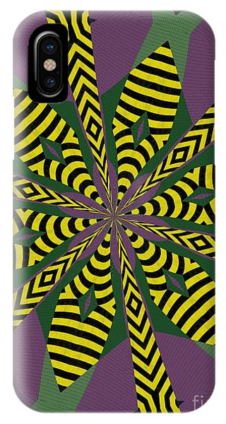 Illusion iPhone Case - Flowers Number Eight by Alex Caminker
