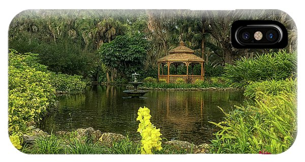 Flowers To Gazebo By The Lake IPhone Case