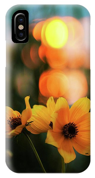 Flowery Bokeh Sunset IPhone Case