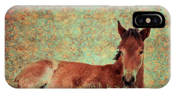 Flowery Foal IPhone Case