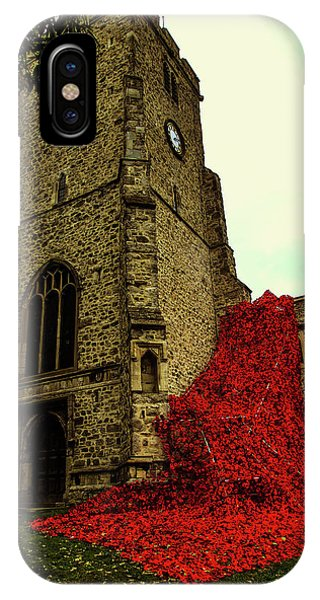 Flowing Poppies IPhone Case