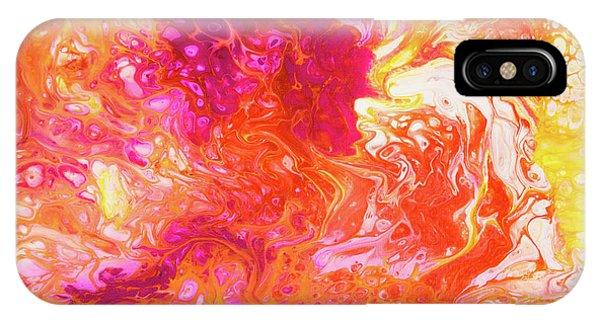 Fluid Hibiscus IPhone Case