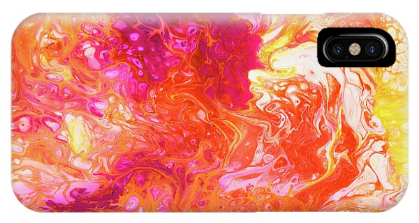Fluid Hibiscus IPhone Case