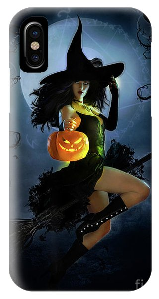 iPhone Case - Fly By Night Halloween by Shanina Conway