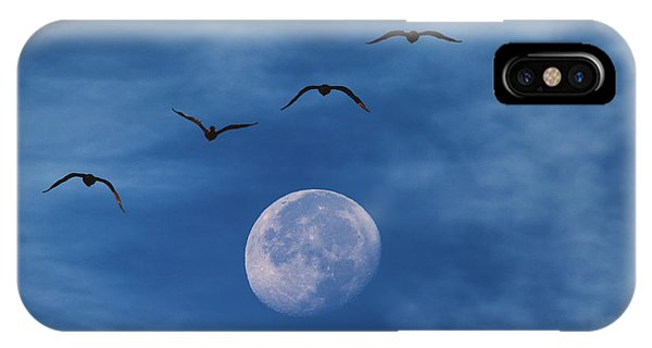 In Flight iPhone Case - Fly Me To The Moon by Darren White