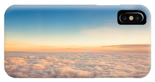 Airplanes iPhone Case - Flying Above The Clouds. View From The by Valentin Valkov