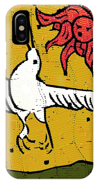 Flying Bird And Red Sun Face IPhone Case