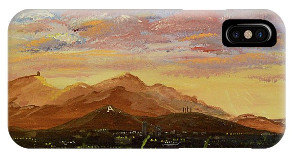 Flying Over Tucson IPhone Case
