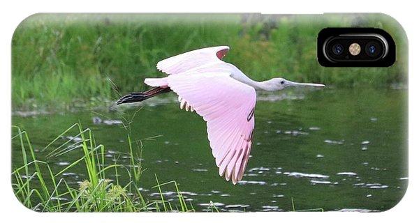 iPhone Case - Flying Roseate Spoonbill by Carol Groenen