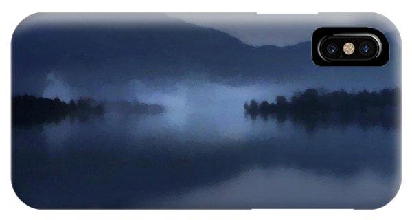 Fog On The Dark Mountain Lake IPhone Case