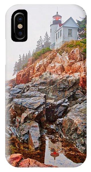 Foggy Bass Harbor Lighthouse IPhone Case