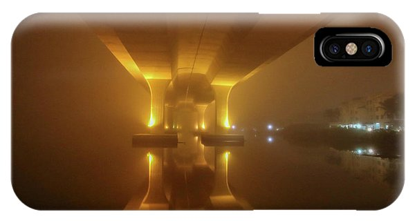 IPhone Case featuring the photograph Foggy Bridge Glow by Tom Claud