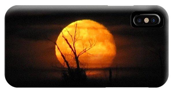 Foggy Harvest Moon IPhone Case