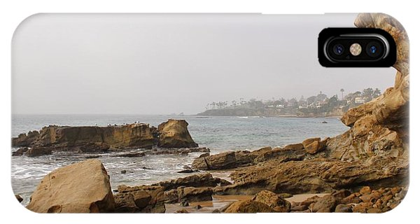 IPhone Case featuring the photograph Foggy Laguna Beach by Brian Eberly