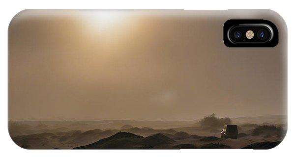 Foggy Morning In The Namib Desert IPhone Case