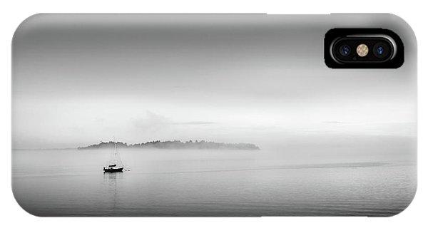 Foggy Morning On Casco Bay IPhone Case