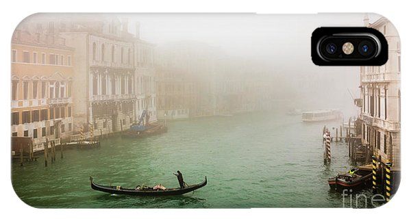 Foggy Morning On The Grand Canale, Venezia, Italy IPhone Case