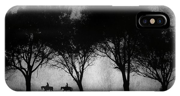 Foggy Morning Ride IPhone Case