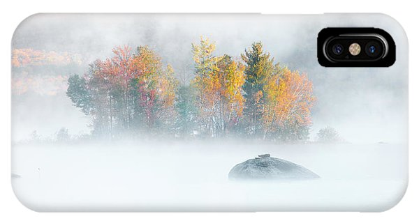 IPhone Case featuring the photograph Foliage Burst At Leffert's Pond Vermont by Expressive Landscapes Fine Art Photography by Thom