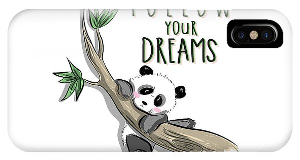 Follow Your Dreams - Baby Room Nursery Art Poster Print IPhone Case