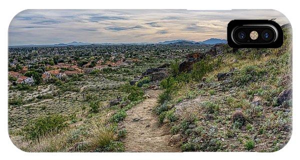 Following The Desert Path IPhone Case