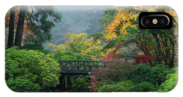 iPhone Case - Footbridge In Japanese Garden by Panoramic Images