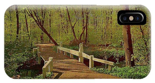 Footbridge Through The Woods IPhone Case