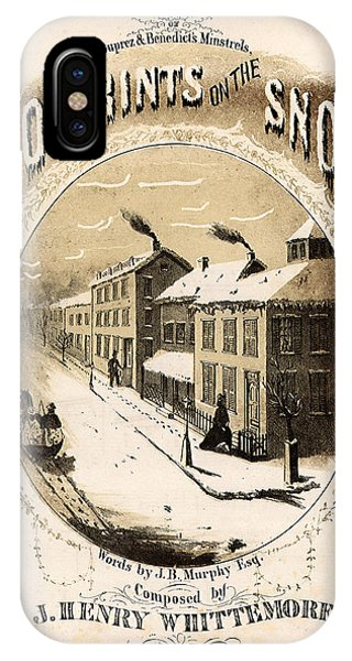 iPhone Case - Footprints On The Snow, 1866 Music Sheet Cover Page by Zal Latzkovich