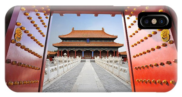 Forbidden City iPhone Case - Forbidden City In Beijing , China by Hung Chung Chih