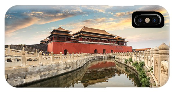 Forbidden City iPhone Case - Forbidden City In Beijing,china by Chuyuss