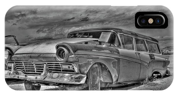 Ford Country Squire Wagon - Bw IPhone Case