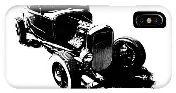 Ford Flathead Roadster Two Blk IPhone Case