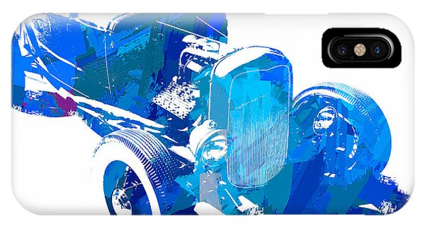 Ford Flathead Roadster Two Blue Pop IPhone Case