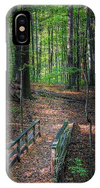 Hiking Path iPhone Case - Forest Footbridge by Tom Mc Nemar