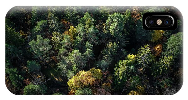 Fall Foliage iPhone Case - Forest Landscape - Aerial Photography by Nicklas Gustafsson