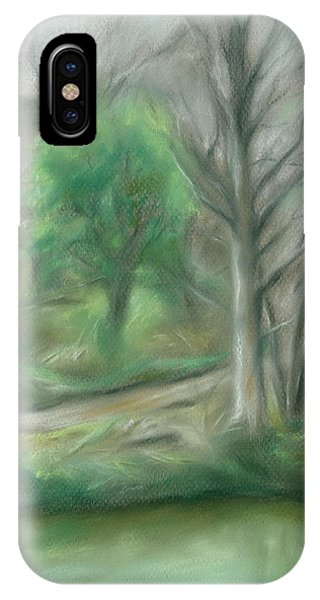 Forest Lane By A Pond IPhone Case
