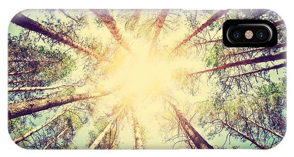 Beams iPhone Case - Forest. Retro Style by Triff