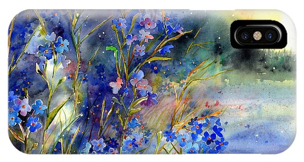 Alabama iPhone Case - Forget-me-not Watercolor by Suzann Sines