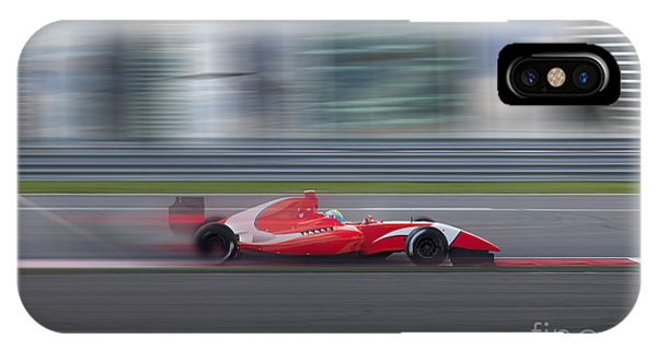 Motion Blur iPhone Case - Formula 2.0 Race Car Racing At High by Kuznetsov Alexey