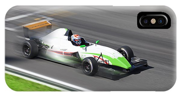 Motion Blur iPhone Case - Formula 2.0  Race Car Racing On Speed by Kuznetsov Alexey