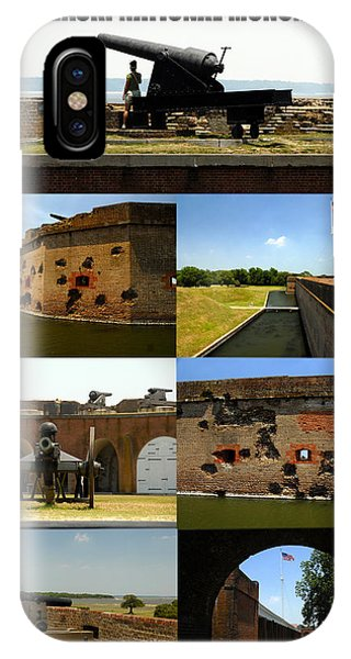 iPhone Case - Fort Pulaski National Monument Poster A by David Lee Thompson