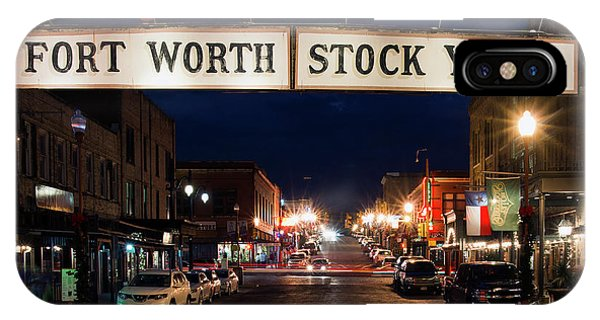 Fort Worth Stock Yards 112318 IPhone Case
