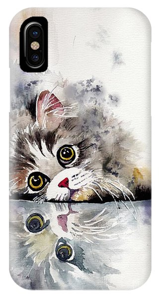Kitten iPhone Case - Forty Winks by Suzann Sines